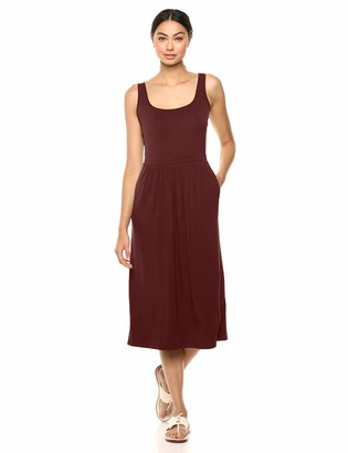 Daily Ritual Amazon Brand Women's Jersey Sleeveless Empire-Waist Midi Dress