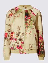 Marks and Spencer Long Sleeve Garden Print Bomber Jacket