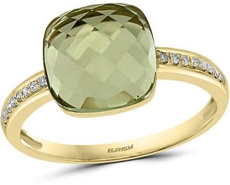 Effy 14K 3.86 Ct. Tw. Diamond & Green Amethyst Ring
