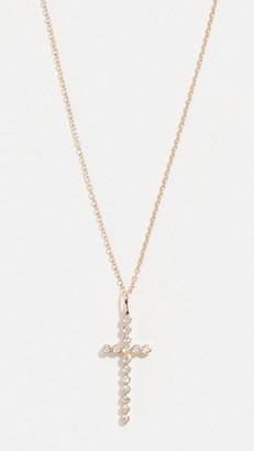 Zoë Chicco 14k Gold Cross Necklace