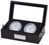 Bey-Berk Boxed Clock and Thermometer