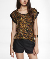 Express Leopard Print Easy Top
