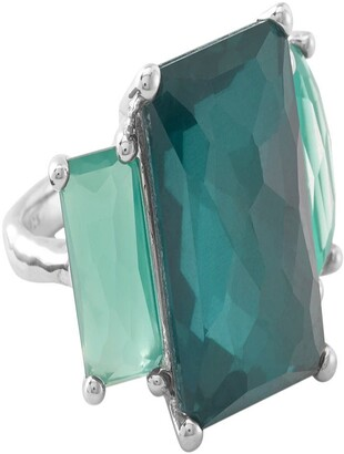 Ippolita Sterling Silver Wonderland Prong Set 3-Stone Quartz Ring