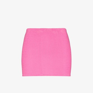 Hunza G Crinkled Mini Skirt