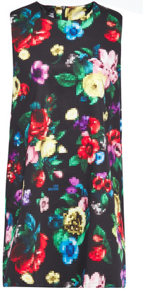 Love Moschino Floral-print Cotton-blend Mini Dress