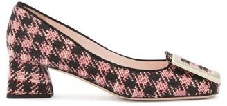 Roger Vivier Tres Vivier Buckled Tweed Pumps - Pink
