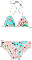 Luli Fama Girls' Wavy Triangle Bikini Set