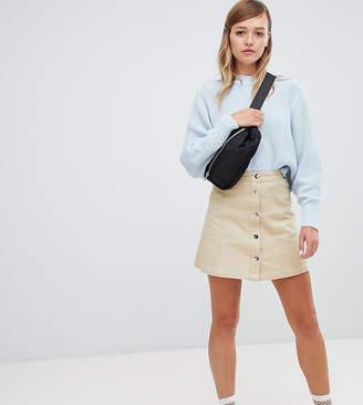 Monki A-line Mini Skirt-Beige