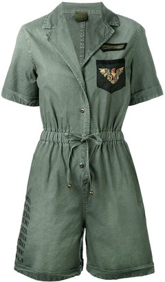 Mr & Mrs Italy patch detail playsuit