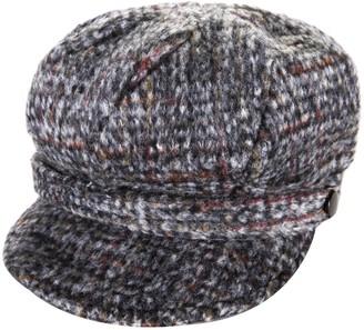 Heritage Traditions Womens Tweed Wool Peaked Newsboy Cap Hat (Grey)