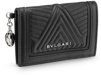 Bvlgari Quilted Serpenti Forever Bifold Card Holder