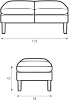 Thumbnail for your product : Halo Groucho Leather Footstool