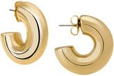 Janis Savitt Oprah's Favorite High Polish Small Hoop Earrings - Yellow Gold