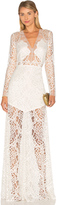 Michelle Mason Long Sleeve Lace Gown