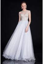 Terani Couture Embellished Illusion Jewel Neck Ballgown 1615P1315B