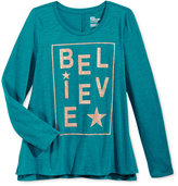Epic Threads Girls' Believe Graphic-Print T-Shirt, Only at Macy's