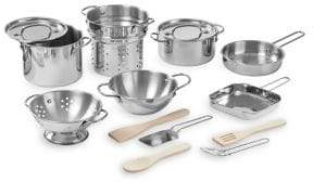 Melissa & Doug Deluxe Stainless Steel Pots & Pans 15-Piece Play Set