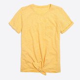 J.Crew Factory Striped tie-waist pocket T-shirt