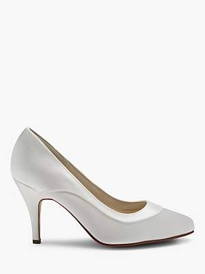 Rainbow Club Nicole Extra Wide Fit Satin Court Shoes, Ivory