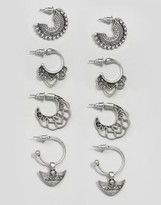 Asos Pack of 4 Festival Hoop Earrings