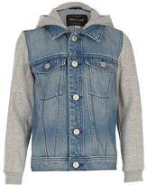 River Island Boys blue denim hooded denim jacket