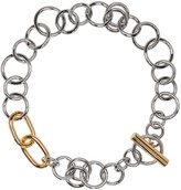 Alexander Wang Silver and Gold Toggle Necklace