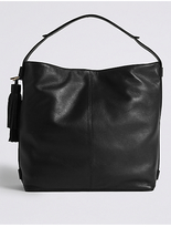 M&S Collection Leather Tassel Hobo Bag