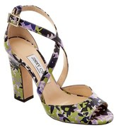 Jimmy Choo Carrie 100 Strappy Heeled Leather Sandal.