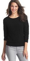 LOFT Textural Cotton Sweater