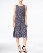 Jessica Howard Printed Ruched-Waist Dress