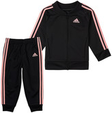 adidas Boys' Active Pants BLK/LTPINK - Black & Pink Classic Tricot Joggers & Track Jacket - Toddler & Boys