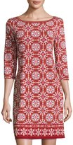 Max Studio Geometric-Print Jersey Shift Dress