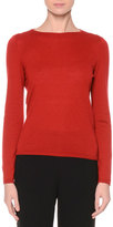 Giorgio Armani Blouson-Back Cashmere Sweater, Red