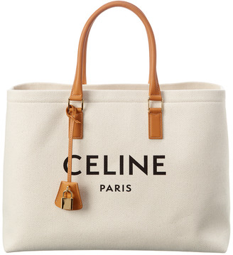 Celine Casual Style A4 Canvas & Leather Tote