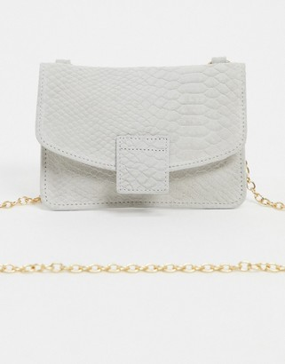 Urban Code Urbancode small leather cross body purse bag in white