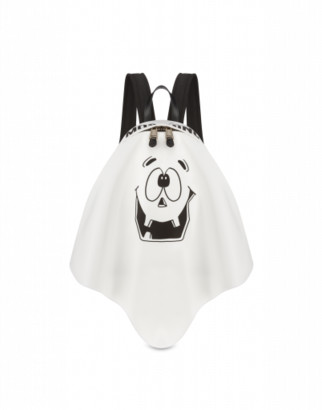Moschino Pumpkin Face Backpack Woman White Size U It - (one Size Us)