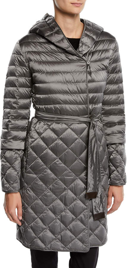 Max Mara The Cube Here is the Cube Collection Tref Quilted Down-Fill Wrap Coat