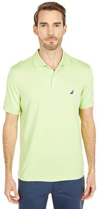 Nautica Solid Tech Polo (White) Men's Clothing