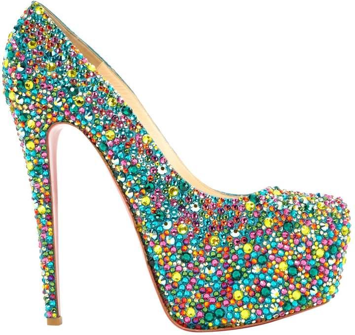 Christian Louboutin Daffodile glitter heels