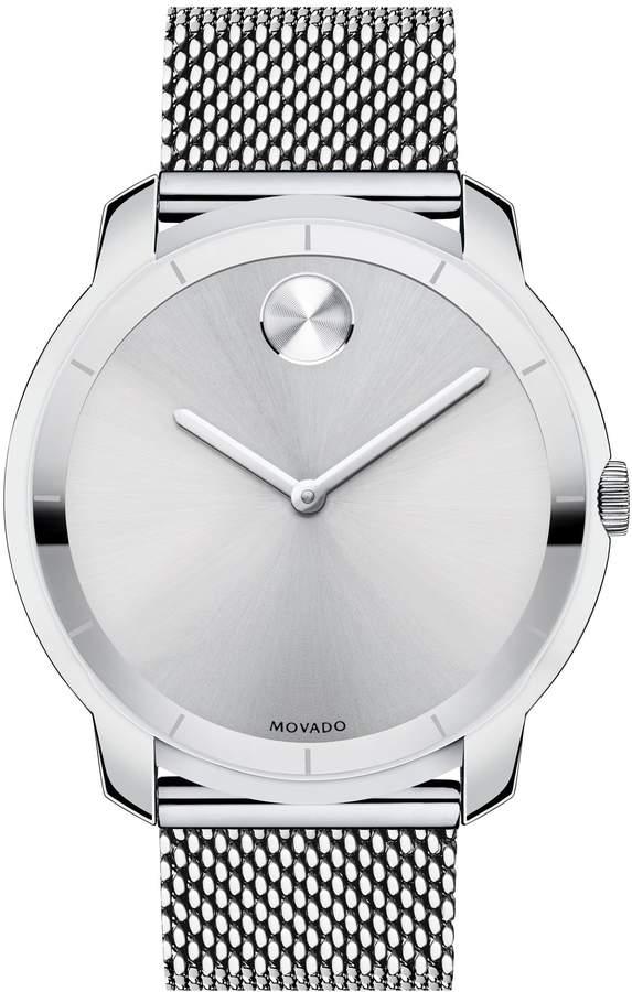 Movado 'Bold' Mesh Strap Watch, 44mm