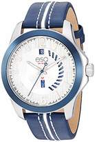 ESQ Men's Stainless Steel Watch w/ Bezel and Leather Strap FE/0091