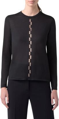Akris Sheer Intarsia Cashmere & Silk Blend Sweater