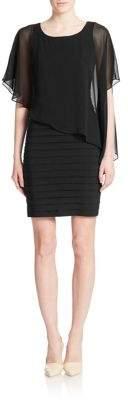 Adrianna Papell Asymmetrical Overlay Sheath Dress