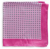 Black Brown 1826 Checkerboard Dot Silk Pocket Square
