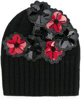 Le Chapeau appliqué flower beanie