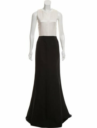 Narciso Rodriguez Sleeveless Evening Dress Black