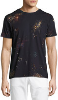 Valentino Fireworks Cotton T-Shirt, Navy