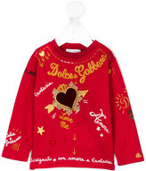 Dolce & Gabbana embroidered detail top - kids - Cotton - 12 mth