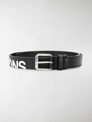 Comme des Garcons Logo-Print Leather Belt