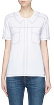 Stella McCartney Topstitch shirt cotton T-shirt